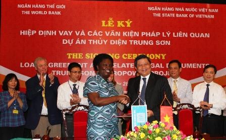WB đầu tư 330 triệu USD cho thủy điện Trung Sơn