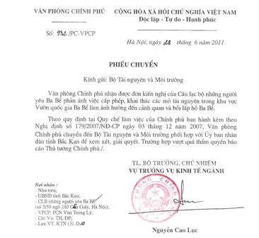 Yêu cầu Bộ TNMT xem xét vụ việc bồi lấp hồ Ba Bể