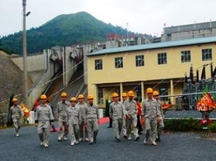 Nhà máy thủy điện Sông Miện 5 (Ảnh: Minh Tâm/VietnamPlus)