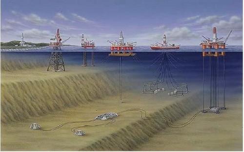 Dàn khoan dầu khí trên biển (Ảnh: monre.gov.vn)