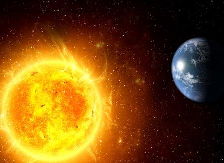 Theo các nhà khoa học, việc Trái đất ngày càng tiến gần tới Mặt trời rốt cuộc sẽ dẫn tới sự tuyệt diệt của mọi dạng sống trên Trái đất trong 1,75 - 3,25 tỉ năm nữa (Ảnh: Live Science/Vietnamnet)