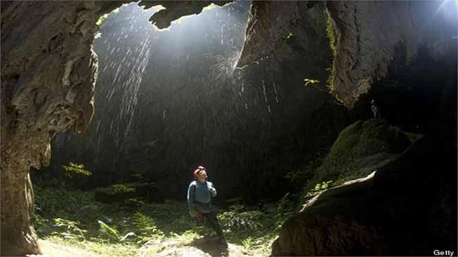 Một góc bên trong hang động Sơn Đoòng