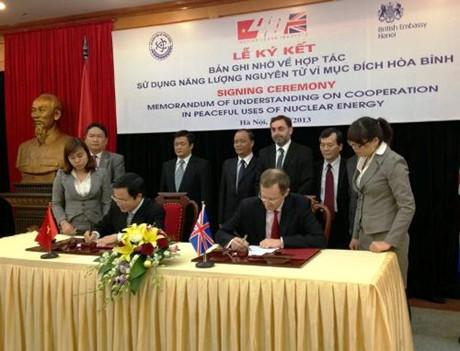 Lễ ký kết Bản ghi nhớ về hợp tác sử dụng năng lượng nguyên tử vì mục đích hòa bình (Ảnh VGP/Thu Cúc)
