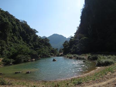 Suối Vực Trô, noi người dân đi câu cá đã phát hiện 1 cây gỗ sưa (Ảnh: Minh Phong/Sài Gòn Giải Phóng)