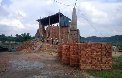 Hơn 4000 m2 đất sản xuất nông nghiệp tại bãi bồi Hương Lương đã bị sử dụng sai mục đích (Ảnh: An ninh Thủ đô)