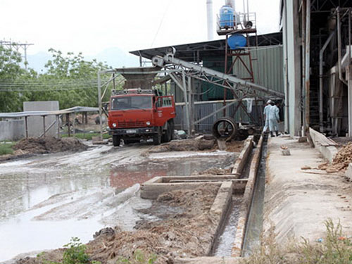 Nhà máy Chế biến tinh bột mì Ninh Thuận từng bị xử phạt hàng trăm triệu đồng vì gây ô nhiễm môi trường (Ảnh: Lê Trường/nld.com.vn)