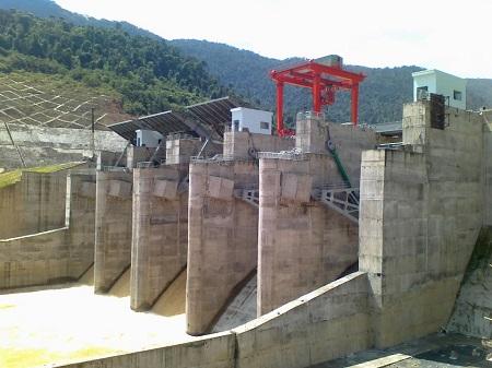 Công trình thủy điện Sông Bung (Ảnh: ThienNhien.Net)