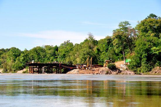 Lào đang triển khai xây dựng thủy điện Don Sahong
