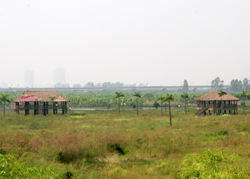 Một số hạng mục của một khu sinh thái chưa triển khai được