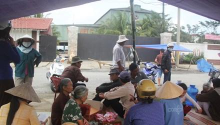Quảng Nam: Dân dựng lều phản đối nhà máy gây ô nhiễm