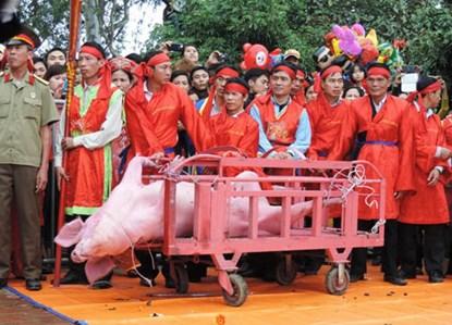 Lễ hội Chém lợn tại Bắc Ninh. (Ảnh: Tổ chức Động vật Châu Á)