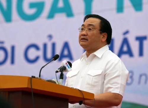 """Phó Thủ tướng Hoàng Trung Hải nói: """"Chính phủ Việt Nam nêu rõ quan điểm, nước không phải là nguồn tài nguyên vô tận mà là một trong những nguồn tài nguyên chiến lược cần được quản lý, khai thác, sử dụng phù hợp"""". (Ảnh: VGP/Nguyên Linh)"""