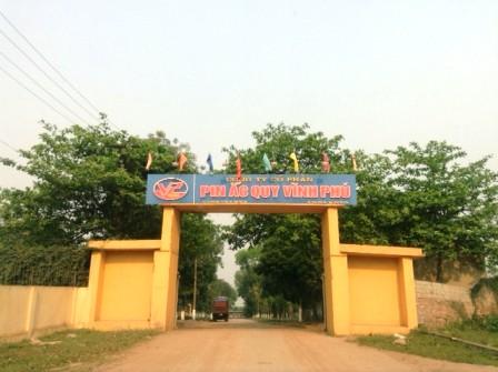 Trụ sở Công ty CP Pin ắc quy Vĩnh Phú