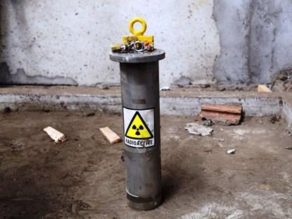 Hình ảnh nguồn phóng xạ bị thất lạc