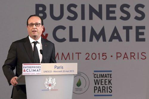Khai mạc Hội nghị thượng đỉnh về Doanh nghiệp-Khí hậu tại Pháp