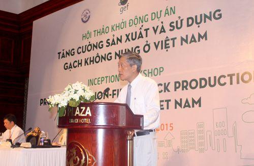 Ông Trần Văn Tùng, Thứ trưởng bộ Khoa học và Công nghệ phát biểu tại Hội thảo. (Ảnh: Báo Tài nguyên & Môi trường)
