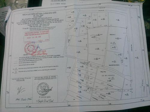 Trích lục bản đồ địa chính khu đất mà UBND tỉnh Thanh Hoá chấp thuận chủ trương cho Cty Hải Hà thuê đất. (Ảnh: Thanh Tâm)