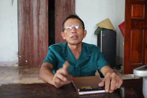 Ông Mầng - Trưởng thôn Minh Huệ bức xúc nói về việc rừng phi lao ven biển của thôn bị đốn hạ