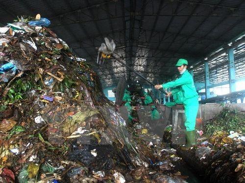 Phân loại rác để xử lý (Ảnh minh họa: Thế Duyệt/TTXVN)