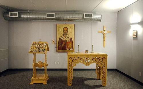Mỏ Kupol có cả phòng cầu nguyện.