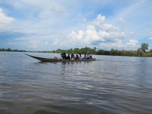 Khu vực dự kiến xây dựng thủy điện Hạ Sesan 2 trên sông Sesan, đoạn chảy qua tỉnh Stung Treng - Campuchia
