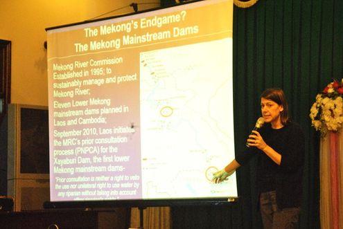 Chuyên gia nước ngoài phát biểu tại hội thảo.