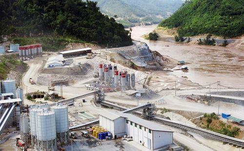 Công trình xây dựng đập thủy điện Xayaburi tại Lào (Ảnh: AFP)