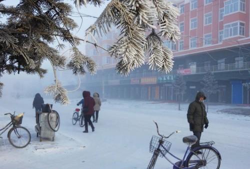 Quang cảnh tại một thị trấn của Hulunbuir.