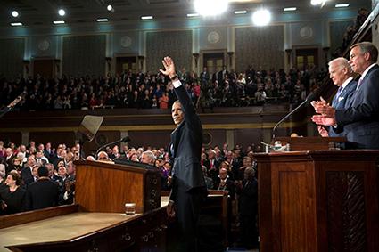 Tổng thống Barack Obama loan báo về Sáng kiến Y học Chính xác (PMI) vào tháng 1/2015 (Ảnh: Nature)