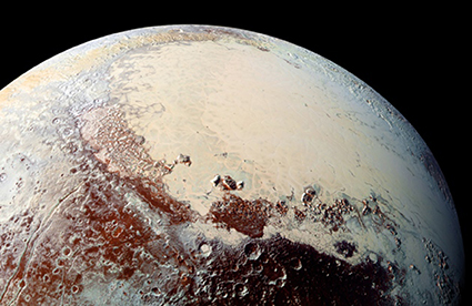 Tàu vũ trụ New Horizons của NASA gửi những hình ảnh kỳ vĩ về địa hình đầy phong phú của Pluto (Ảnh: Nature)