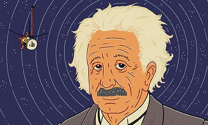 Trong loạt bốn bài thuyết trình tại Viện Hàn lâm Khoa học Phổ từ tháng 11 đến tháng 12/ 1915, Einstein đã trình bày lý thuyết mới về lực hấp dẫn. Họa sỹ: Jasper Rietman (Ảnh: The Guardian)