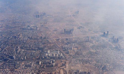 Khói bụi độc hại dày đặc tại một vùng ngoại ôthủ đô New Delhi của Ấn Độ (Nguồn: AFP).