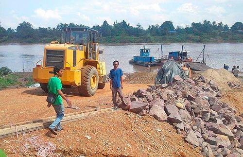 Khu vực xây dựng đập Don Sahong. (Ảnh: Phnompenh Post)