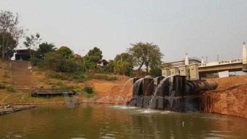 Trạm bơm công suất lớn hút nước từ sông Mekong vào lưu vực Huai Luang. (Sơn Nam/Vietnam+)