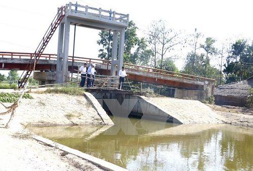 Hệ thống cống ngăn xâm nhập mặn tại Hậu Giang (Nguồn: TTXVN)