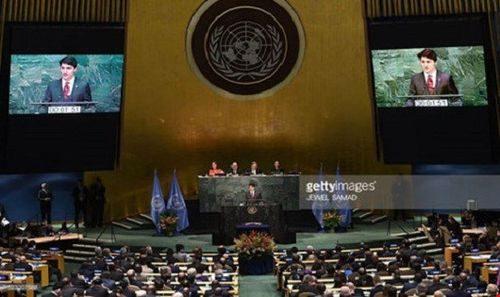 Các nước ký thỏa thuận về biến đổi khí hậu tại trụ sở Liên Hợp Quốc (Ảnh: Getty)