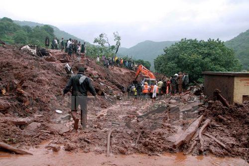 Hiện trường một vụ lở đất tại Ấn Độ (Nguồn: AFP/TTXVN)