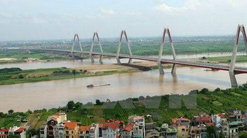 Một góc sông Hồng tại Hà Nội (Nguồn ảnh: TTXVN)