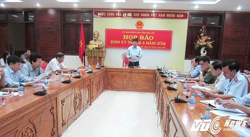 Hình ảnh tại buổi họp báo của UBND tỉnh Đắk Lắk (Ảnh: Hải Đỗ)