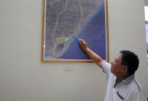 Vị trí KCN dệt may Rạng Đông nằm ngay sát tuyến đê bao ven biển