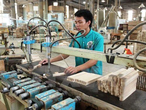 Sản xuất gỗ phục vụ xuất khẩu. (Ảnh: Thanh Vũ/TTXVN)