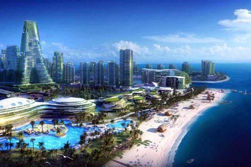 Hình ảnh Thành phố Rừng trong tương lai qua nét vẽ của họa sĩ.