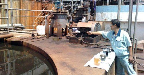 Pangrim Neotex từng bị bắt quả tang không vận hành hệ thống xử lý nước thải theo đúng thiết kế, xả nước thải chưa xử lý trực tiếp ra sông Hồng (Ảnh: TL)