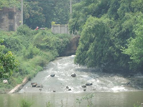 Hằng ngày, nước thải của nhà máy vẫn đều đều xả ra sông Thương