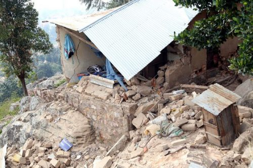 Cảnh tàn phá do động đất ở Tanzania (Nguồn: AFP)