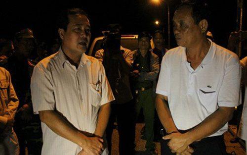 Phó chủ tịch UBND tỉnh Quảng Nam Huỳnh Khánh Toàn có mặt tại hiện trường đêm qua. Ảnh: VOV