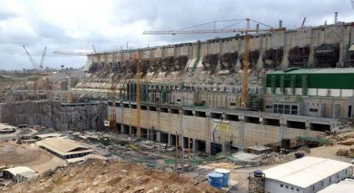 Đập Monte Belo đang trong quá trình hoàn thiện (Ảnh: Mongabay)