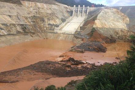 Thủy điện Sông Bung 2 đã tích nước trái quy trình, chưa dảm bảo các điều kiện pháp lý (Ảnh:Thanh Hải)
