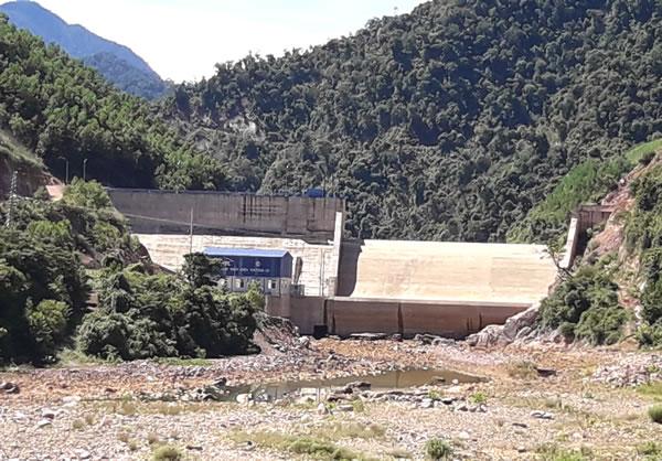 Công trình thủy điện Thượng Lộ ở lưu vực sông Ba Ran.