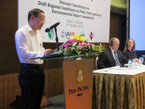 Ông Nguyễn Văn Tài phát biểu tại hội thảo
